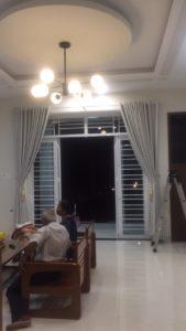 Thi công màn cửa vải cao cấp nhà anh Hoàng, khu Ngọc Bảo Viên Quảng Ngãi